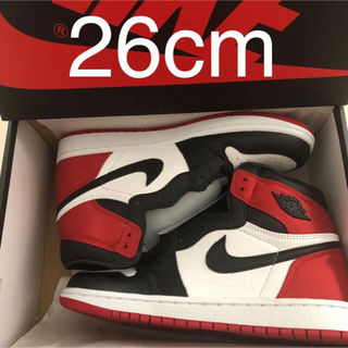 ナイキ(NIKE)のAIR JORDAN 1 RETRO HIGH SATIN BLACK TOE(スニーカー)