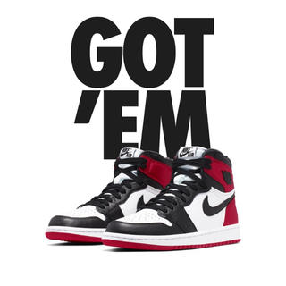 ナイキ(NIKE)のNike Air Jordan 1 Retro High Black Toe(スニーカー)