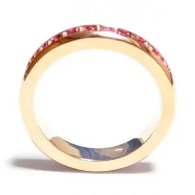 SWAROVSKI(スワロフスキー)の✨定価7380円✨★SWAROVSKI★フルエタニティローズ ピンクゴールド   レディースのアクセサリー(リング(指輪))の商品写真