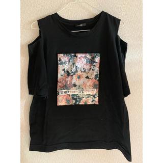 しまむら - オフショル 花柄プリントTシャツ