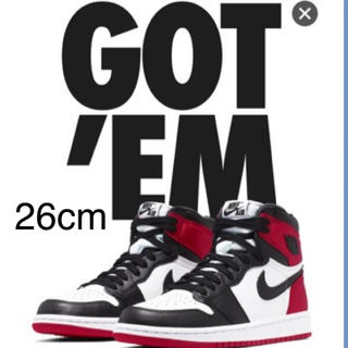 ナイキ(NIKE)の26cm air jordan 1 BLACK TOE(スニーカー)