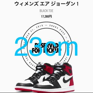 ナイキ(NIKE)のNike Air Jordan 1 Black Toe 23cm つま黒 (スニーカー)