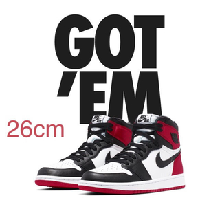 NIKE - NIKE AIR JORDAN1 BLACK TOE WMNSウィメンズ26cm