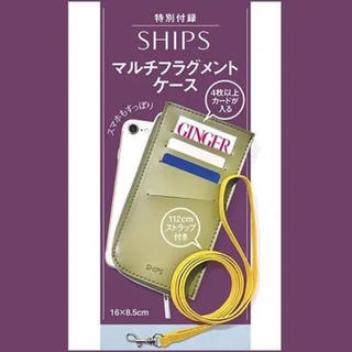 シップス(SHIPS)のGINGER11月号 シップス マルチフラグメントケース(ポーチ)