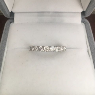 ダイヤモンド ハーフエタニティ リング 1.00ct 3.3g(リング(指輪))