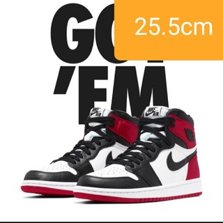 "ナイキ(NIKE)のWMNS AIR JORDAN 1 HIGH OG ""BLACK TOE"" (スニーカー)"