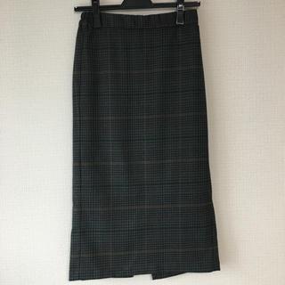 GU - GU チェックナロー ミディタイトスカート M