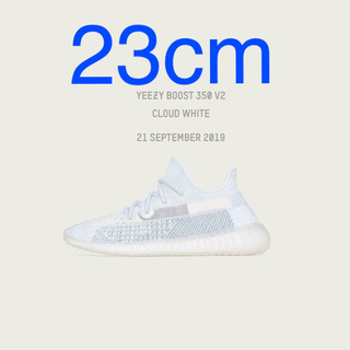 adidas - 23cm YEEZY BOOST 350 V2 CLOUD WHITE