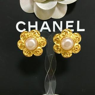 CHANEL - 正規品 シャネル イヤリング パール ゴールド ココマーク 花 フラワー 真珠
