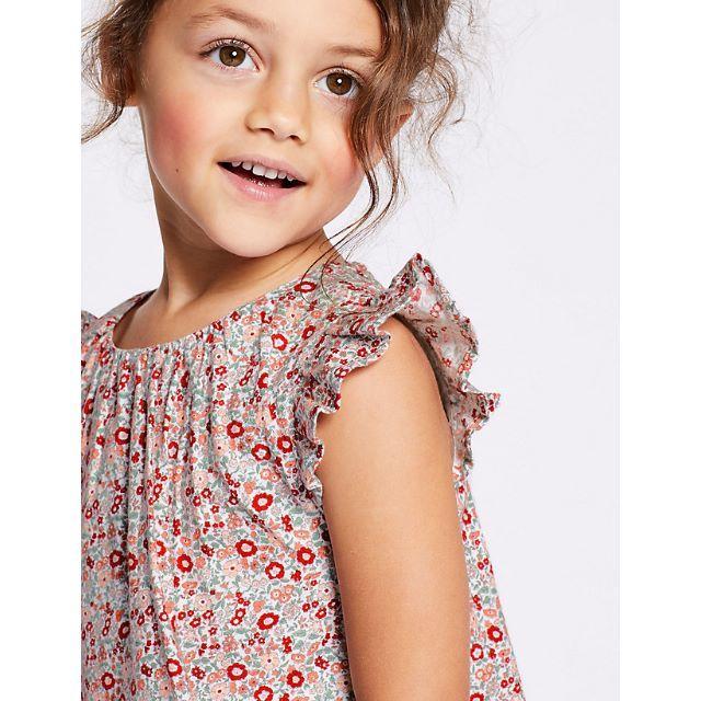 GAP Kids(ギャップキッズ)の【新品】ダスティフローラル ドレス ワンピース 3-4Years キッズ/ベビー/マタニティのキッズ服 女の子用(90cm~)(ワンピース)の商品写真