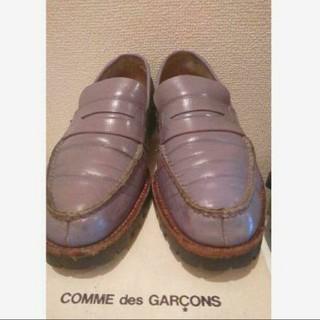 コムデギャルソン(COMME des GARCONS)の希少 ローファー コムデギャルソン パープル(ローファー/革靴)