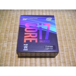 INTELECTION - 「新品未開封」Intel CPU Core i7 8700K BOX