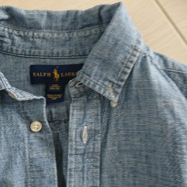 POLO RALPH LAUREN(ポロラルフローレン)のラルフローレン デニム風シャツ サイズ140 キッズ/ベビー/マタニティのキッズ服 男の子用(90cm~)(ブラウス)の商品写真