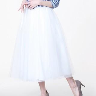 ティアラ(tiara)のチュールロングスカート(ロングスカート)