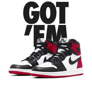 ナイキ(NIKE)の26cm NIKE WMNS AIR JORDAN 1 BLACK TOE(スニーカー)