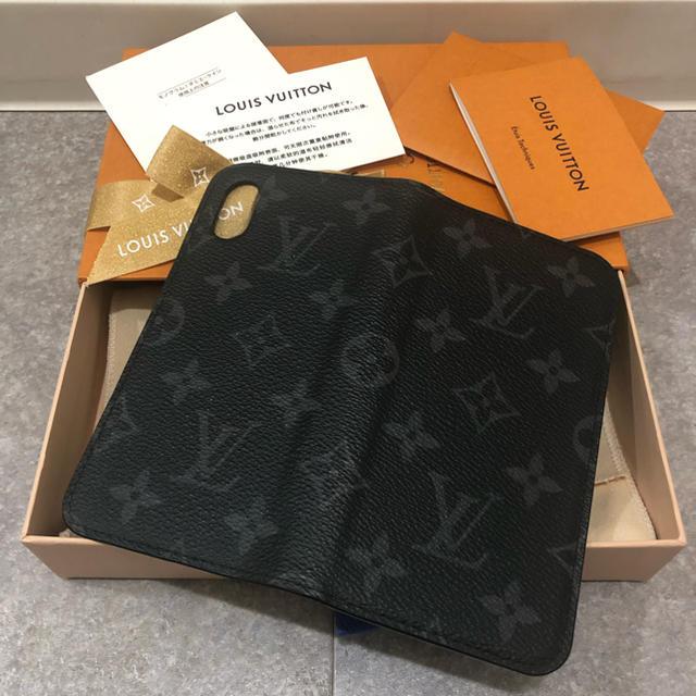 LOUIS VUITTON - ルイヴィトン iPhoneX XSケース フォリオ モノグラムエクリプスの通販