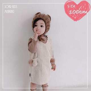 アウトレット⭐︎ポンポンワンピース 100cm(110) 海外子供服(ワンピース)