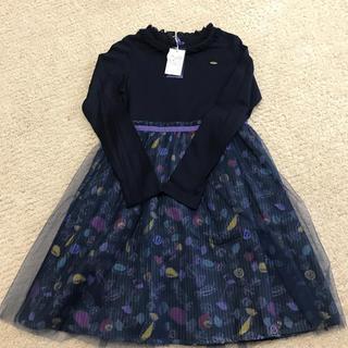 アナスイミニ(ANNA SUI mini)の新品 アナスイミニ  チュールワンピース 紺色 140㎝(ワンピース)