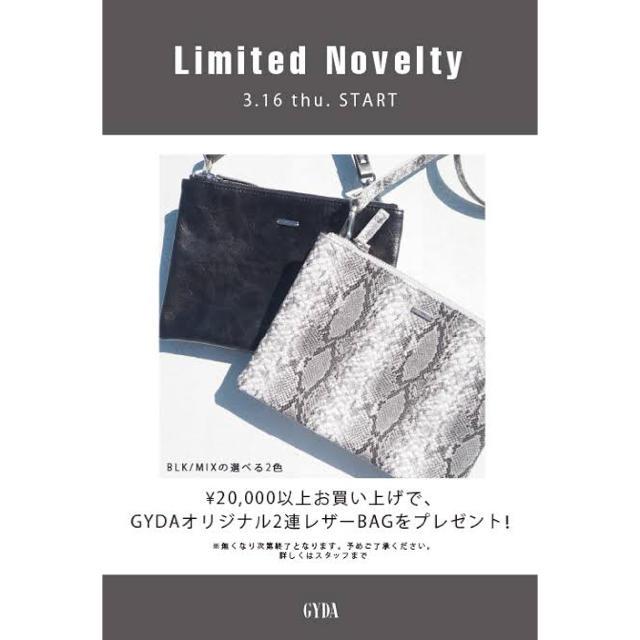 GYDA(ジェイダ)のgyda ノベルティバック MIX レディースのバッグ(ショルダーバッグ)の商品写真