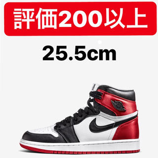 ナイキ(NIKE)のNIKE AIR JORDAN 1 WMNS SATIN BLACK TOE(スニーカー)