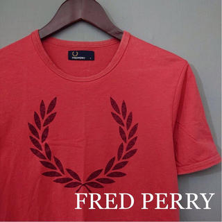 フレッドペリー(FRED PERRY)のフレッドペリー FRED PERRY 半袖 Tシャツ 丸首 レッド ビッグロゴ(Tシャツ/カットソー(半袖/袖なし))