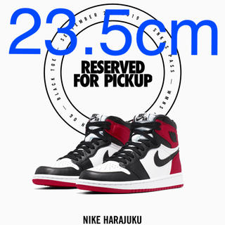 NIKE - 23.5 NIKE WMNS AIR JORDAN 1 BLACK TOE
