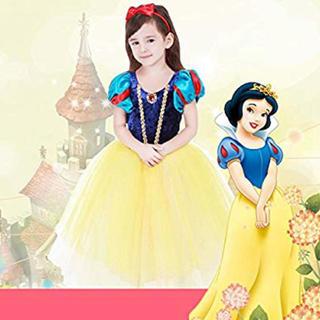 白雪姫風 プリンセス風 ワンピース 女児 女の子 白雪姫風 ドレス 120サイズ(ワンピース)