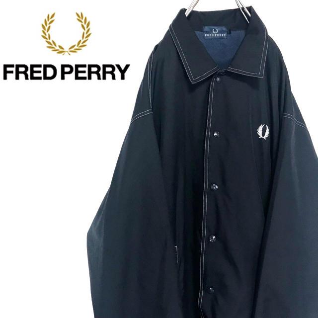 FRED PERRY(フレッドペリー)の【激レア】フレッドペリー☆ワンポイントロゴ刺繍ナイロンコーチジャケット メンズのジャケット/アウター(ナイロンジャケット)の商品写真