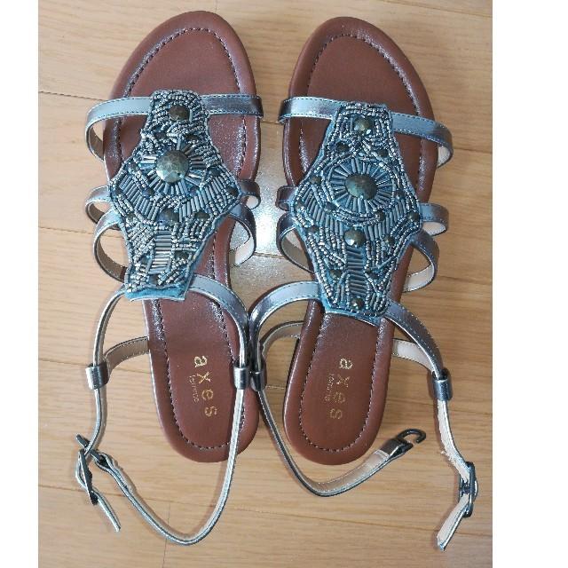 axes femme(アクシーズファム)の【未使用】サンダル レディース axes サイズL シルバー silver レディースの靴/シューズ(サンダル)の商品写真