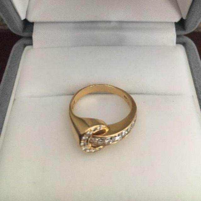 PonteVecchio(ポンテヴェキオ)のポンテヴェキオ ダイヤモンド リング K18YG 0.48ct 3.0g レディースのアクセサリー(リング(指輪))の商品写真