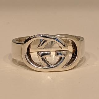 グッチ(Gucci)の【美品】GUCCI インターロッキングG 指輪 SV925 約14号(リング(指輪))