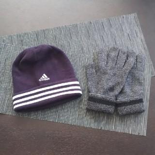 アディダス  帽子、手袋セット(ニット帽/ビーニー)