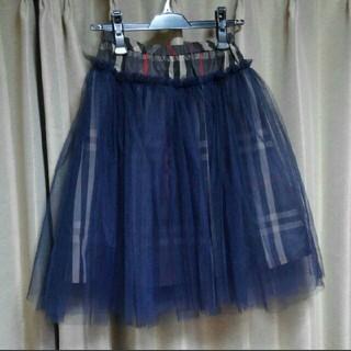 チェスティ(Chesty)のチェスティ チェックチュールスカート完売商品(ひざ丈スカート)