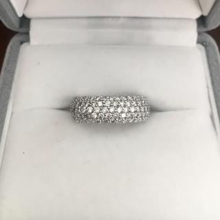 ポンテヴェキオ ダイヤモンド フルパヴェ リング K18WG 2.13ct