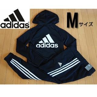 adidas - ☆Mサイズ☆アディダス レディース ジャージ上下 セットアップ ブラック 新品