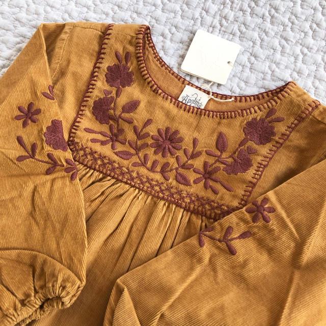 Apolina ワンピース ドレス  コーデュロイ 2-3y キッズ/ベビー/マタニティのキッズ服 女の子用(90cm~)(ワンピース)の商品写真