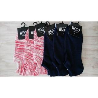 ウィゴー(WEGO)の6【新品】wego メンズ ソックス 6足(ソックス)