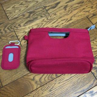 ムジルシリョウヒン(MUJI (無印良品))のバッグインバッグとパスケース(その他)
