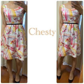 Chesty - チェスティ ホワイトリボン  ワンピ