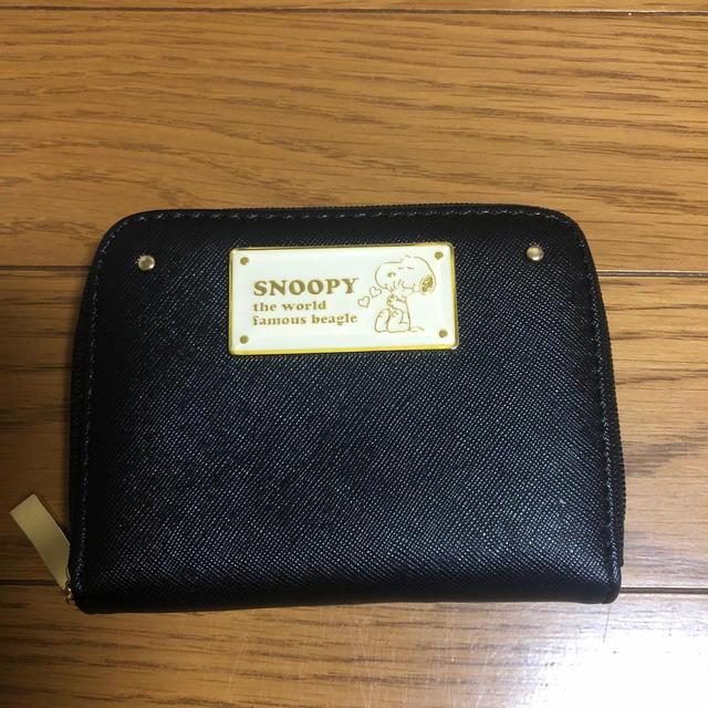 しまむら(シマムラ)のスヌーピー SNOOPY しまむら 財布 黒 レディースのファッション小物(財布)の商品写真