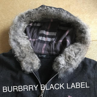 バーバリーブラックレーベル(BURBERRY BLACK LABEL)のバーバリー ブラックレーベル ラビットファー パーカー 1(パーカー)