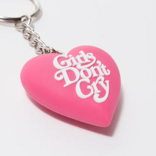 ジーディーシー(GDC)のgirls don't cry heart key chain pink(キーホルダー)