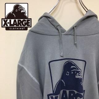 XLARGE - 90's ファッション XLARGE フロント ビッグロゴ パーカー