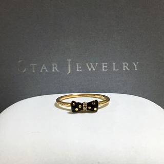 STAR JEWELRY - スタージュエリー k10 ドット柄 リボン リング