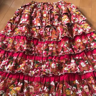 PINK HOUSE - ピンクハウス  ラビアンローズ  段々スカート