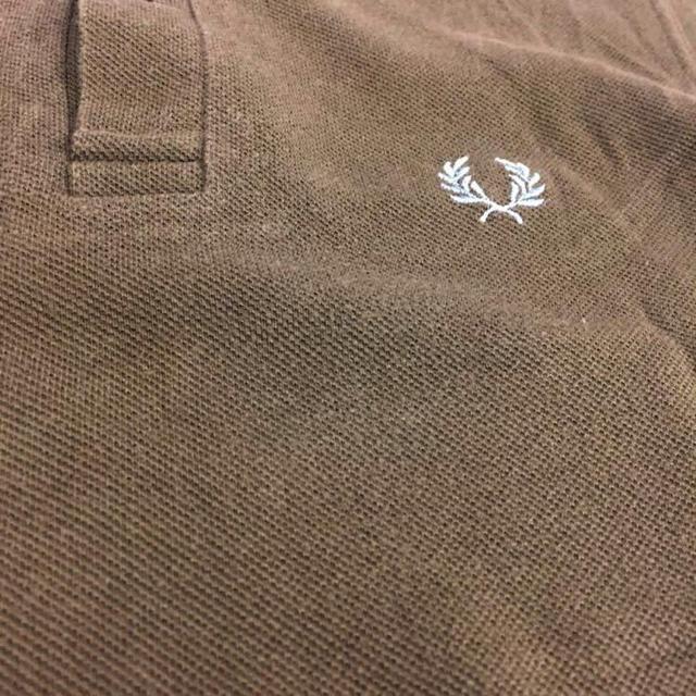 FRED PERRY(フレッドペリー)の【英国製】フレッドペリー FREDPERRY ポロシャツ 半袖 鹿の子 ブラウン メンズのトップス(ポロシャツ)の商品写真