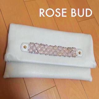 ローズバッド(ROSE BUD)の送料込み♡ローズバッドの大きめクラッチバッグ♡(クラッチバッグ)