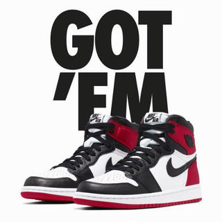 ナイキ(NIKE)のAIR JORDAN 1 HIGH OG BLACK TOE 26cm(スニーカー)