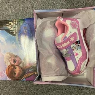 アナと雪の女王  アナ雪  光る  靴  スニーカー  19cm ディズニー
