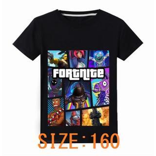 フォートナイト Tシャツ/カットソー キャラクター集  黒 160サイズ